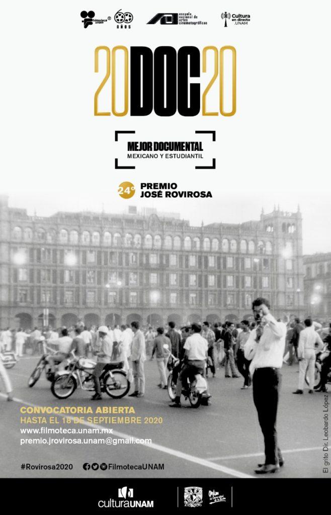 Filmoteca UNAM lanza su convocatoria para el Premio José Rovirosa 2020 al Mejor Documental Mexicano y Mejor Documental Estudiantil Mexicano