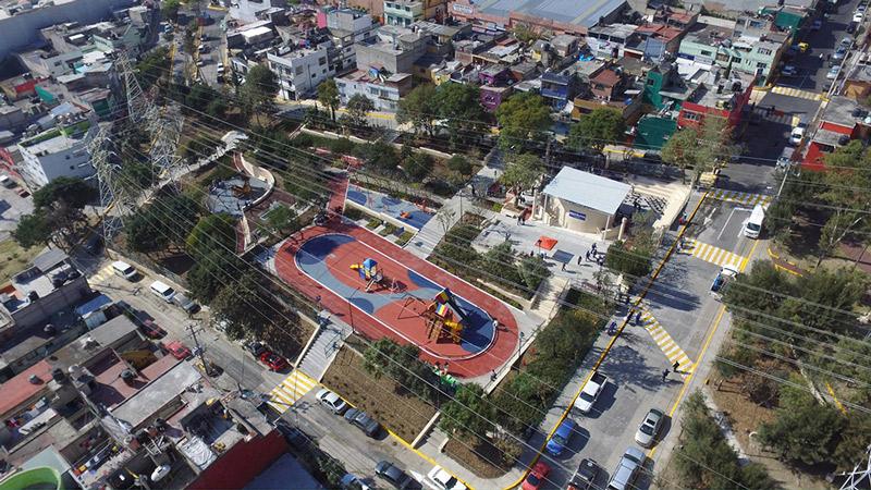 Inaugura Naucalpan espacio rehabilitado en Lomas de San Agustín