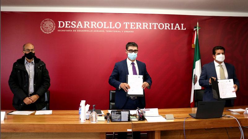 Firman Sedatu y Concanaco convenio de colaboración para garantizar acceso a materiales de construcción a beneficiarios de subsidios para vivienda
