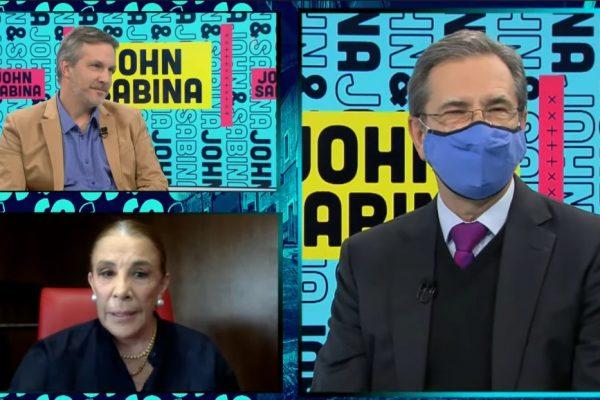"""Escala polémica en """"John y Sabina""""; Moctezuma Barragán media y cuestionan a Ackerman en Twitter"""
