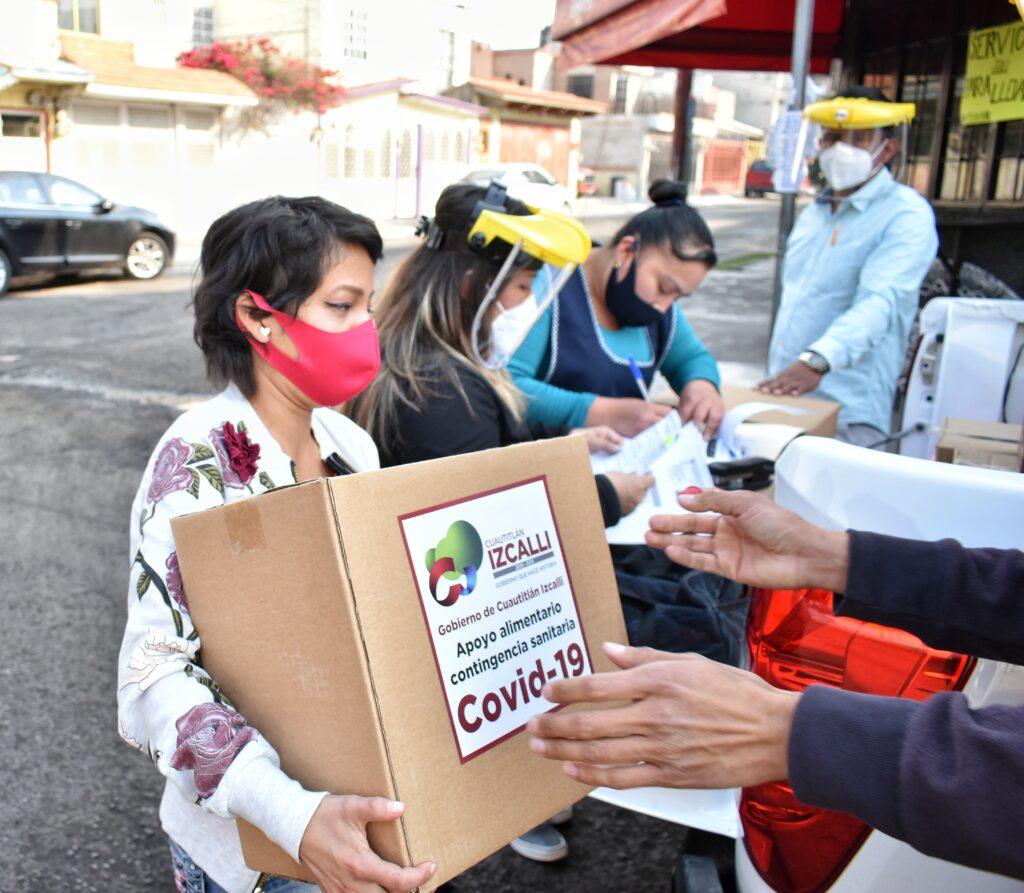 Cuautitlán Izcalli entrega apoyo alimentario al sector restaurantero