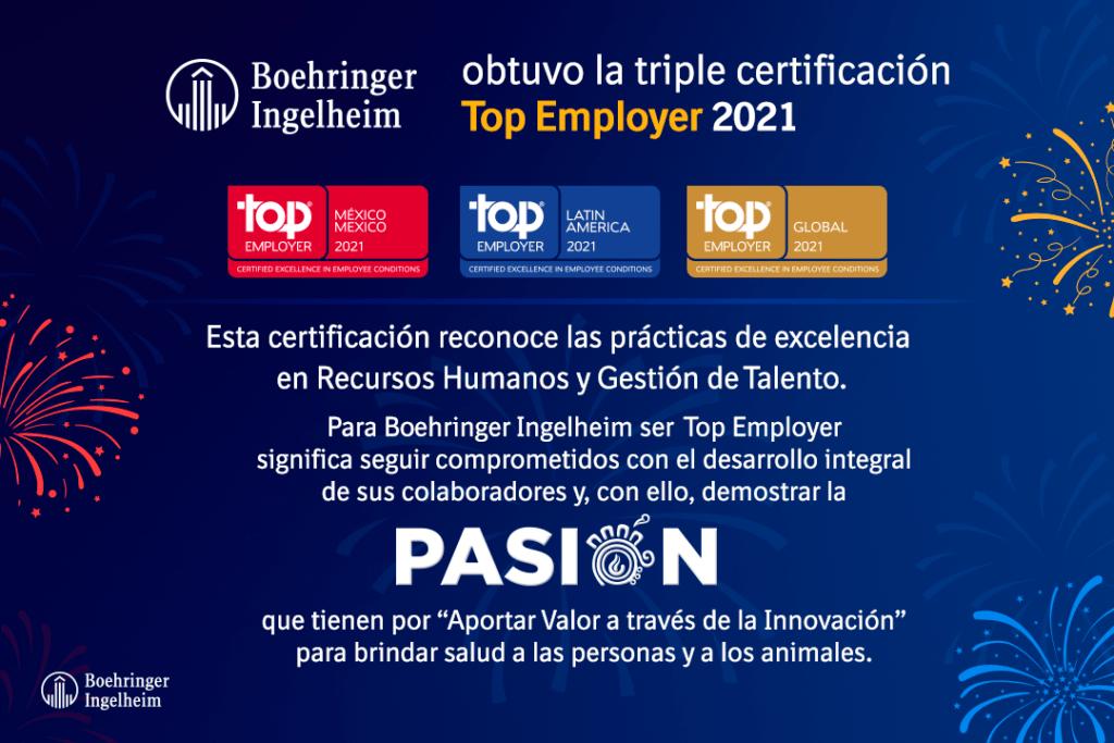 """Obtiene Boehringer Ingelheim el """"Global Top Employer"""" y se posiciona como una de las mejores marcas empleadoras en México y el mundo"""