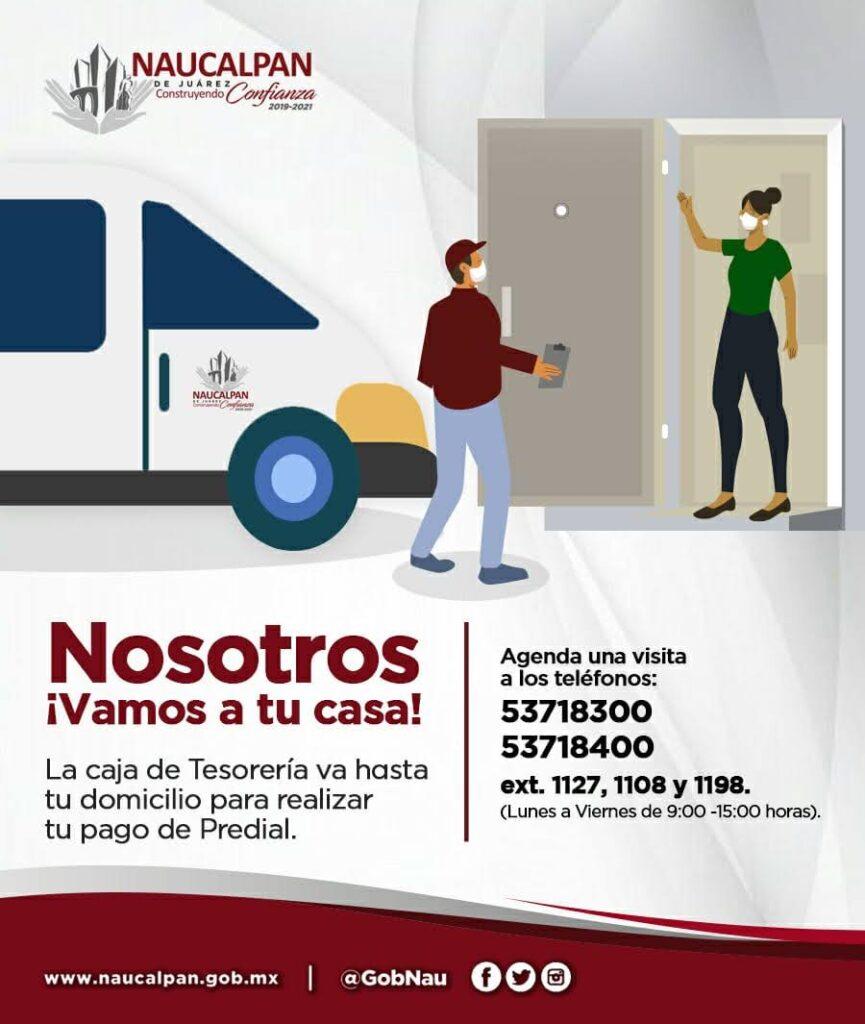Facilita Naucalpan pago de predial a domicilio