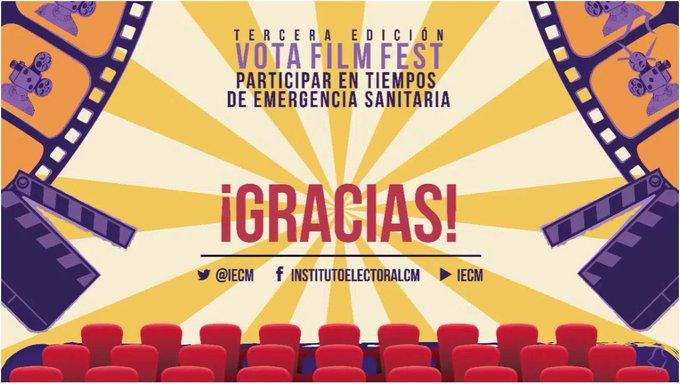 Premia IECM a ganadoras y ganadores de Vota Film Fest 2020