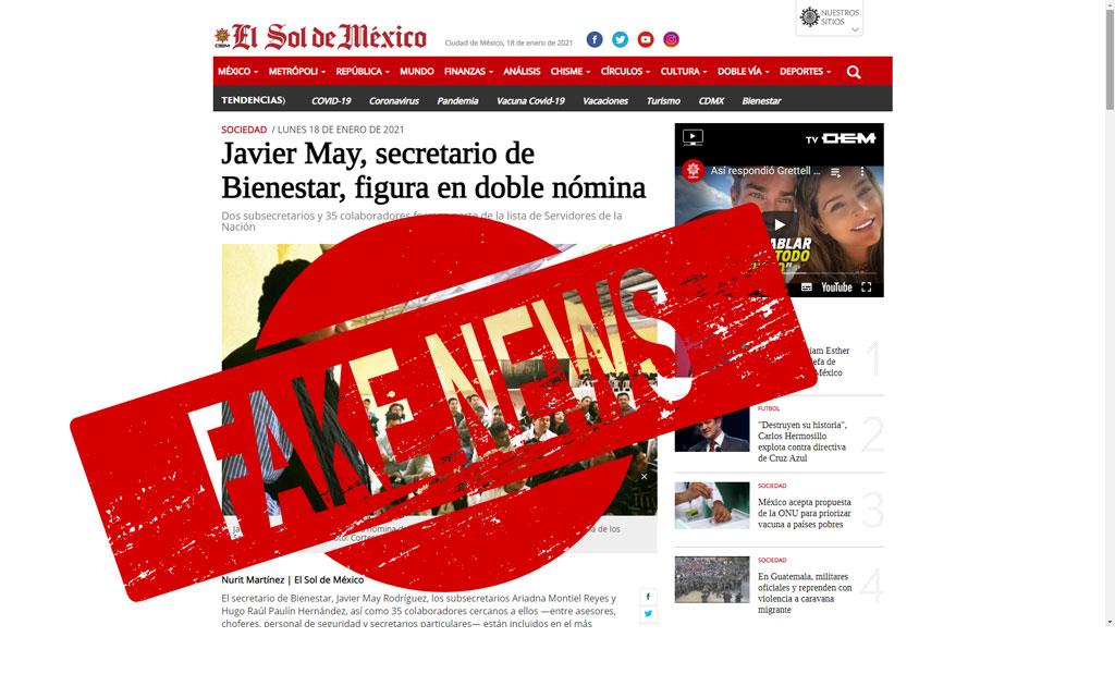 """Desmiente Bienestar a El Sol de México, """"es falsa la información"""", asegura"""