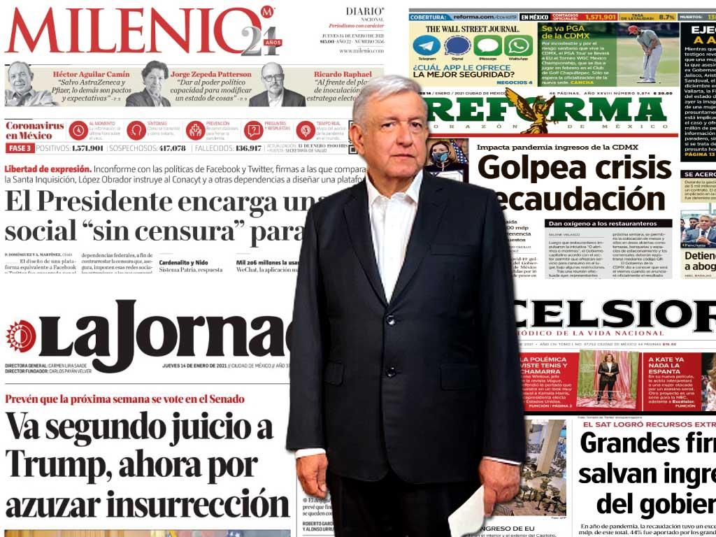 Ahora que los medios son opositores, que honren lo que es el periodismo independiente: AMLO