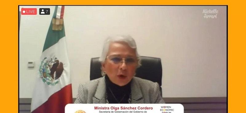 En México existe un gobierno de cambio histórico y transformación: Olga Sánchez Cordero