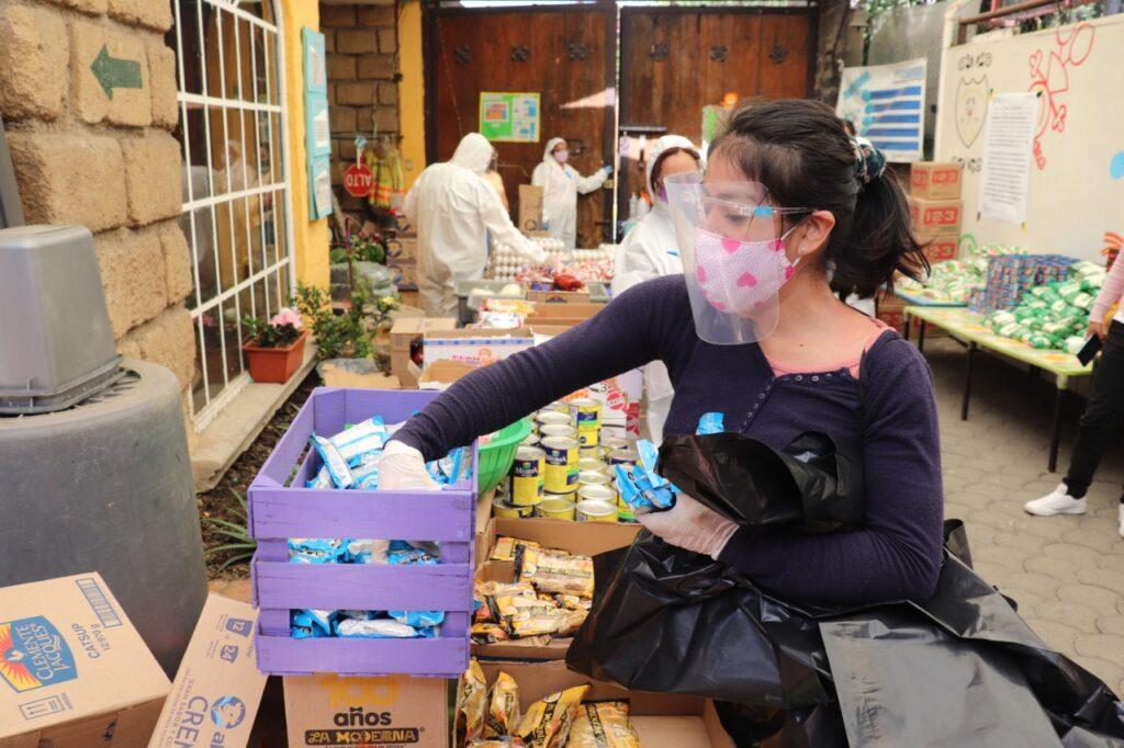 Finaliza Xochimilco entrega de apoyos alimentarios para niños CENDIS
