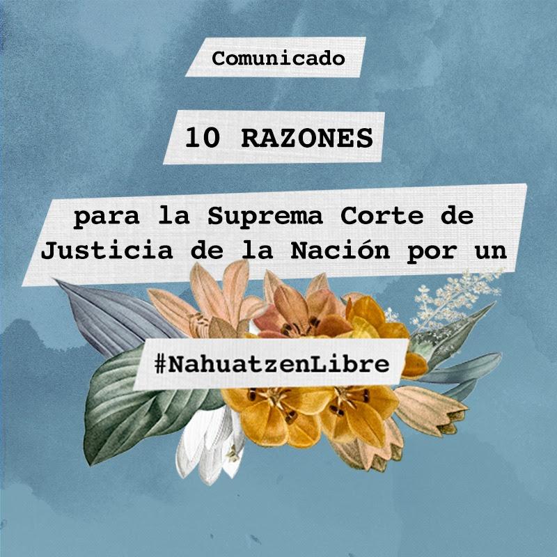 10 razones para la Suprema Corte de Justicia de la Nación por un #NahuatzenLibre