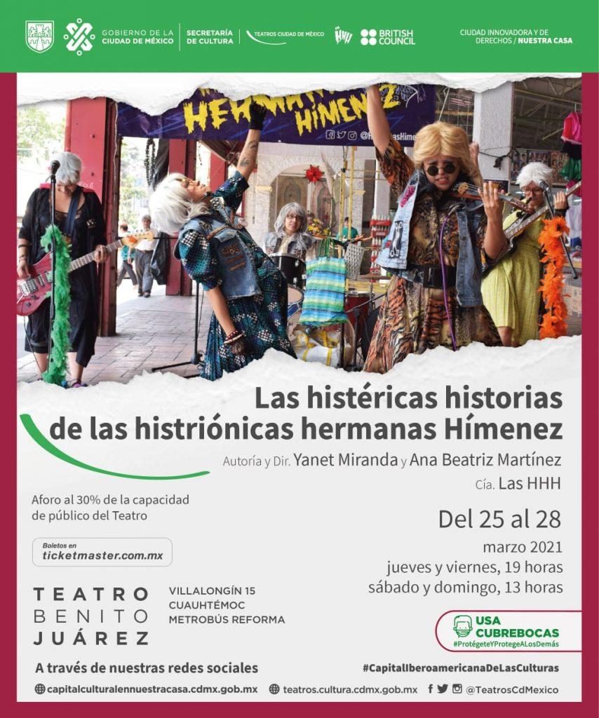 Recibe Teatro Benito Juárez a las Histriónicas Hermanas Hímenez