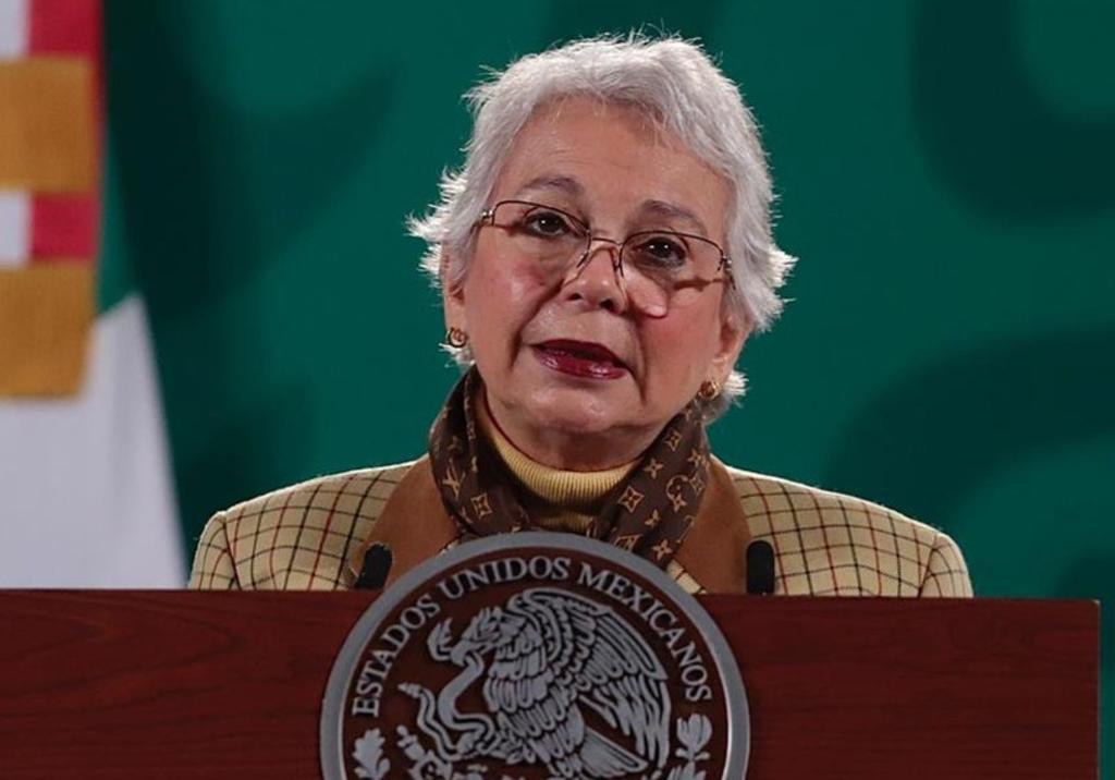Acompañada de funcionarias y activistas, Sánchez Cordero, celebra Día Internacional de las Mujeres
