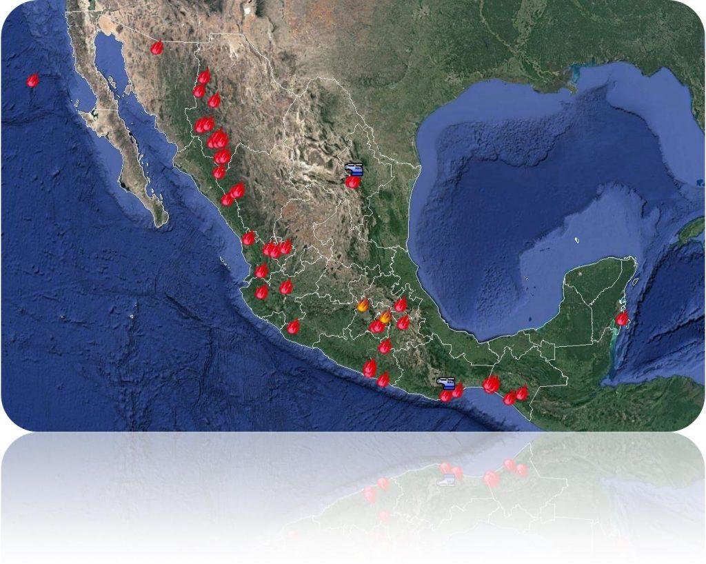 Situación de incendios forestares en México al 06 de abril