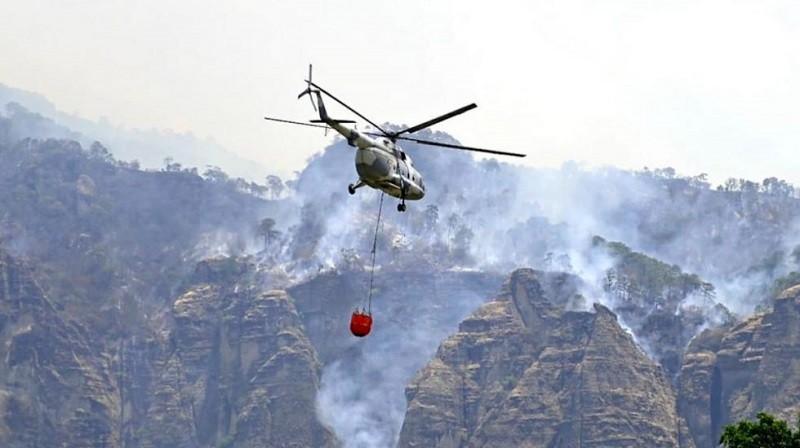 Presenta 90% de control incendio forestal en el Tepozteco, en Morelos