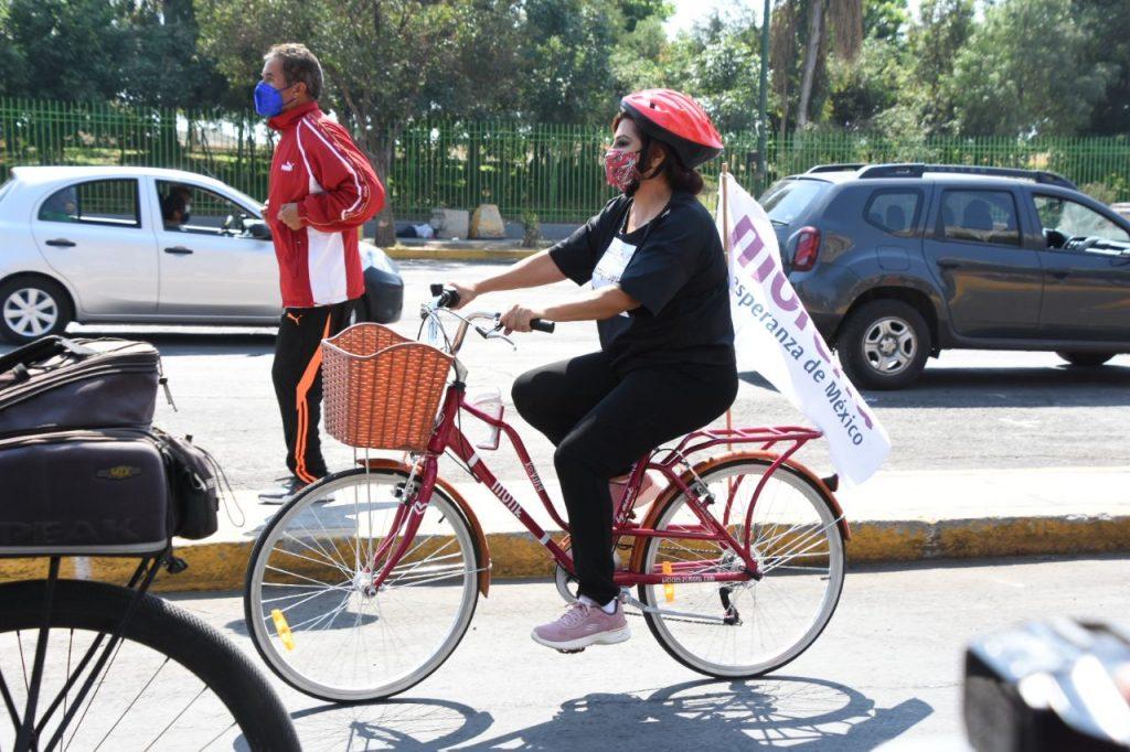 Promete Clara Brugada  infraestructura para la movilidad sustentable