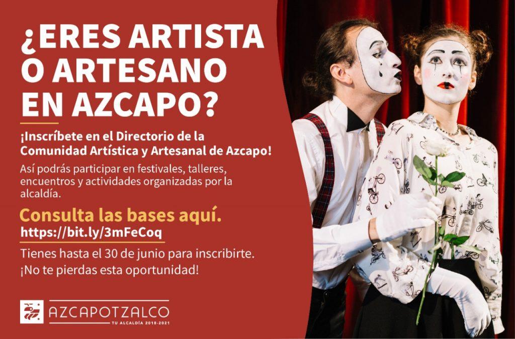 Se abre convocatoria para artistas y artesanos en Azcapotzalco