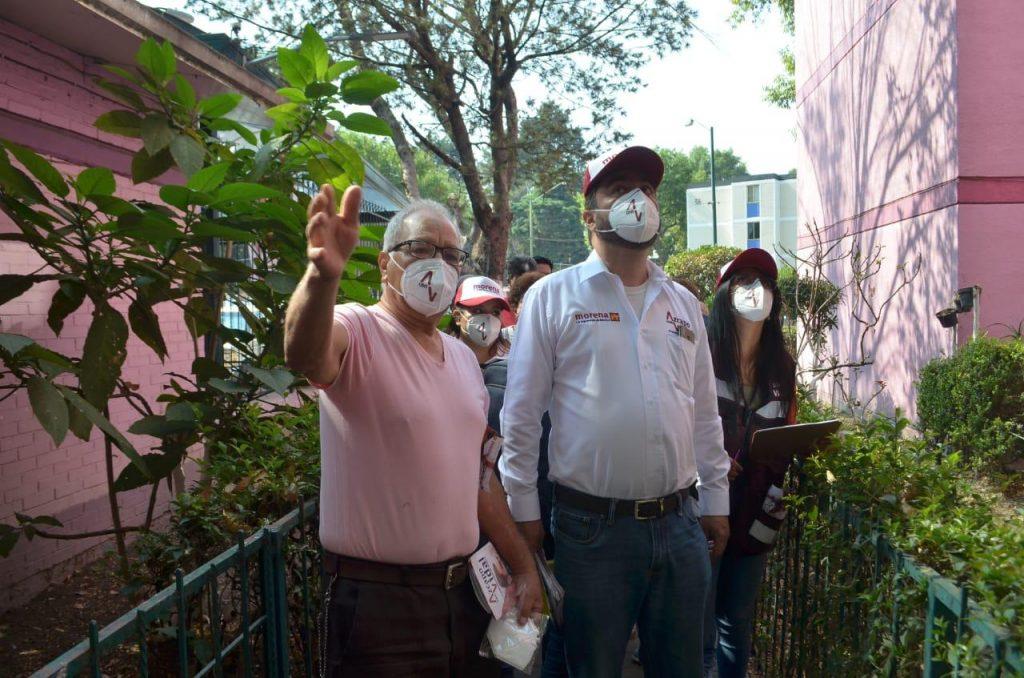 Propone Vidal Llerenas continuar con mejoramiento de Unidades Habitacionales en Azcapotzalco