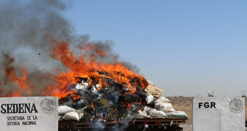 Incinera FGR más de nueve toneladas de narcóticos