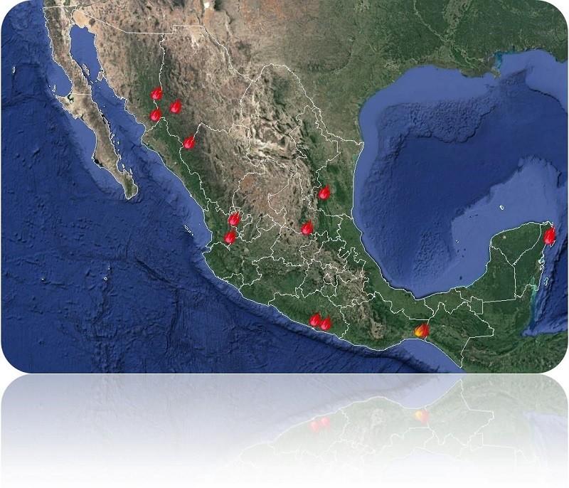 Situación de incendios forestales en México al 13 de mayo