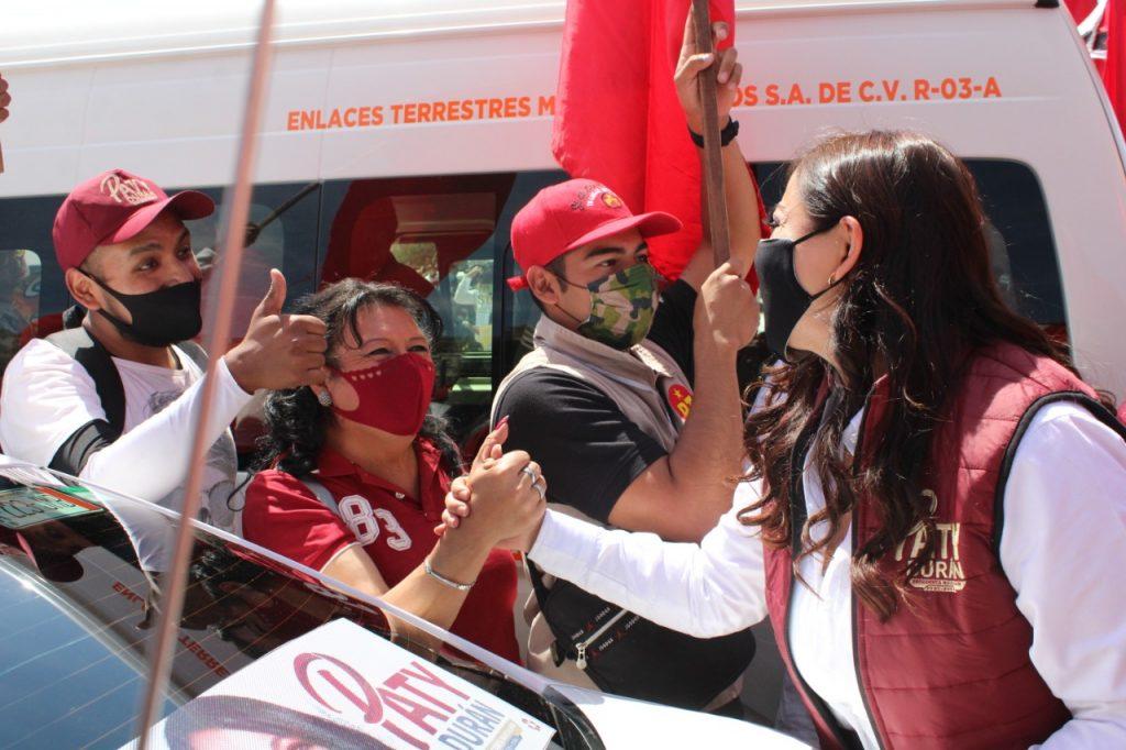 Manifiestan su apoyo transportistas de Naucalpan  a la candidata Patricia Durán Reveles