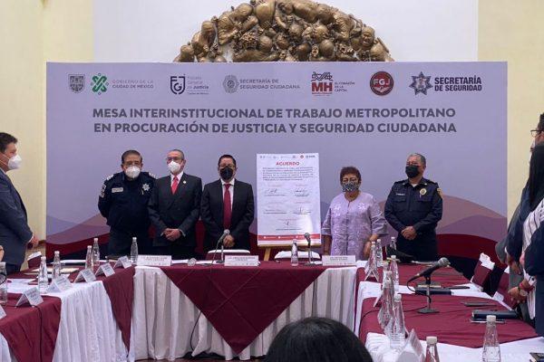 FGJCDMX, FGJEM Y AMH  cierran filas a favor de la seguridad y justicia