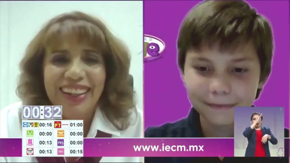 Reforestación, salud emocional y psicológica para milpaltenses: Judith Venegas, durante debate IECM