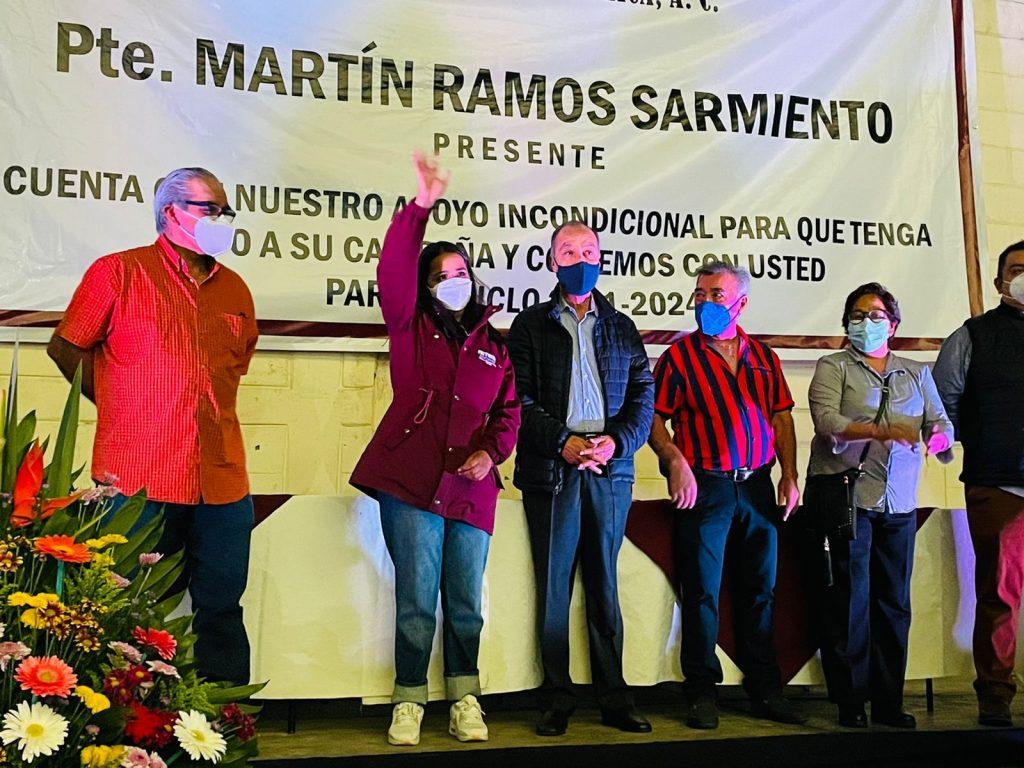 Representantes tianguistas en La Magdalena Contreras respaldan proyecto de Paty Ortiz