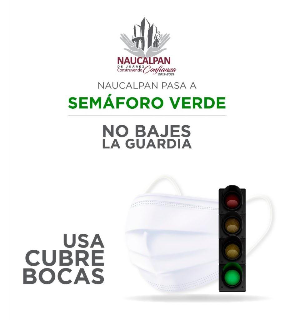Pasa Naucalpan a semáforo verde