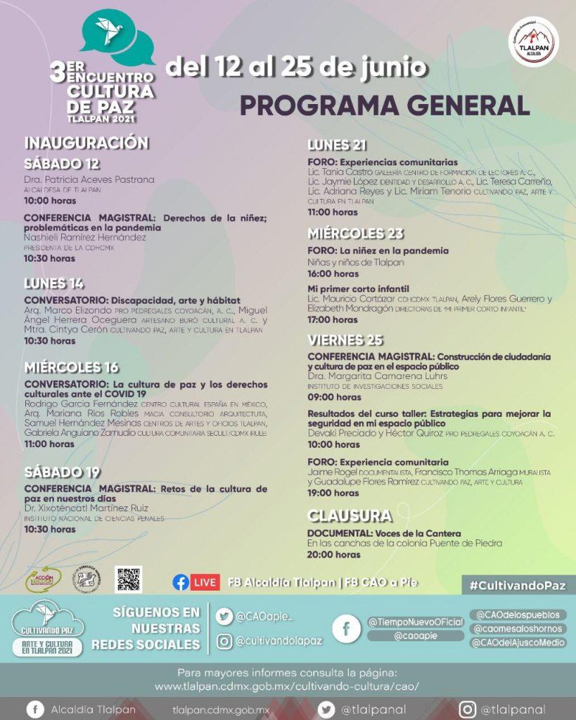 Alcaldía Tlalpan arranca 3er Encuentro de Cultura de Paz