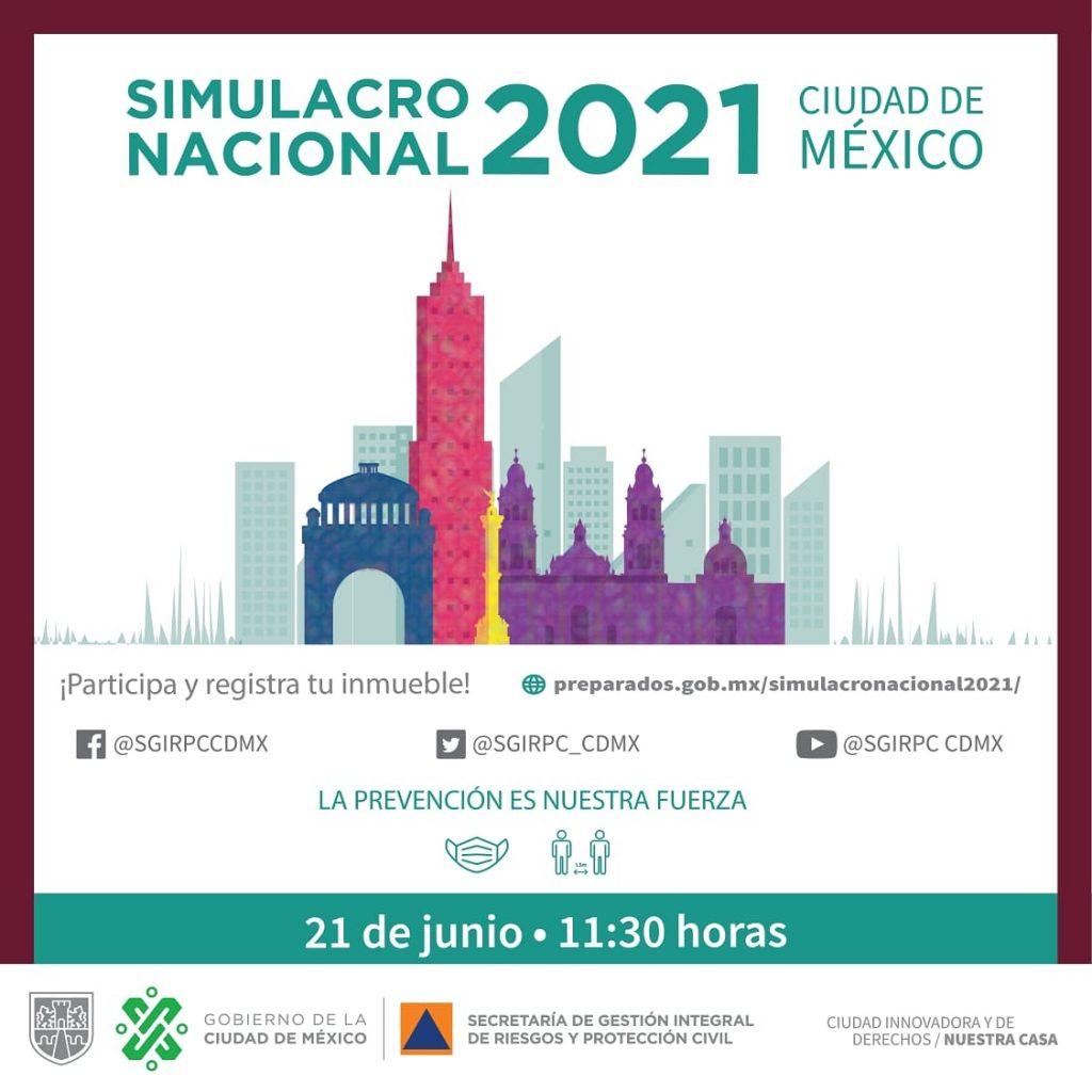 Primer simulacro 2021 se llevará a cabo el lunes a las 11:30