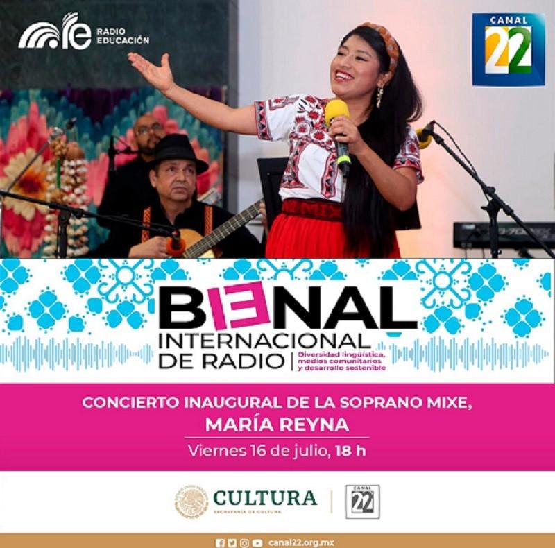 Canal 22 presenta a María Reyna en concierto desde la 13° Bienal Internacional de Radio