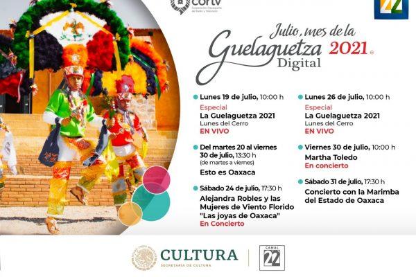 Canal 22 presenta lo mejor de la Guelaguetza 2021