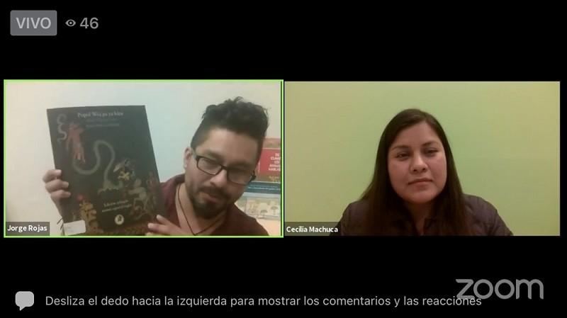 Charlan de Literatura en Lenguas Maternas durante programa virtual Cultura, Deporte y Turismo en Un Click 3.0