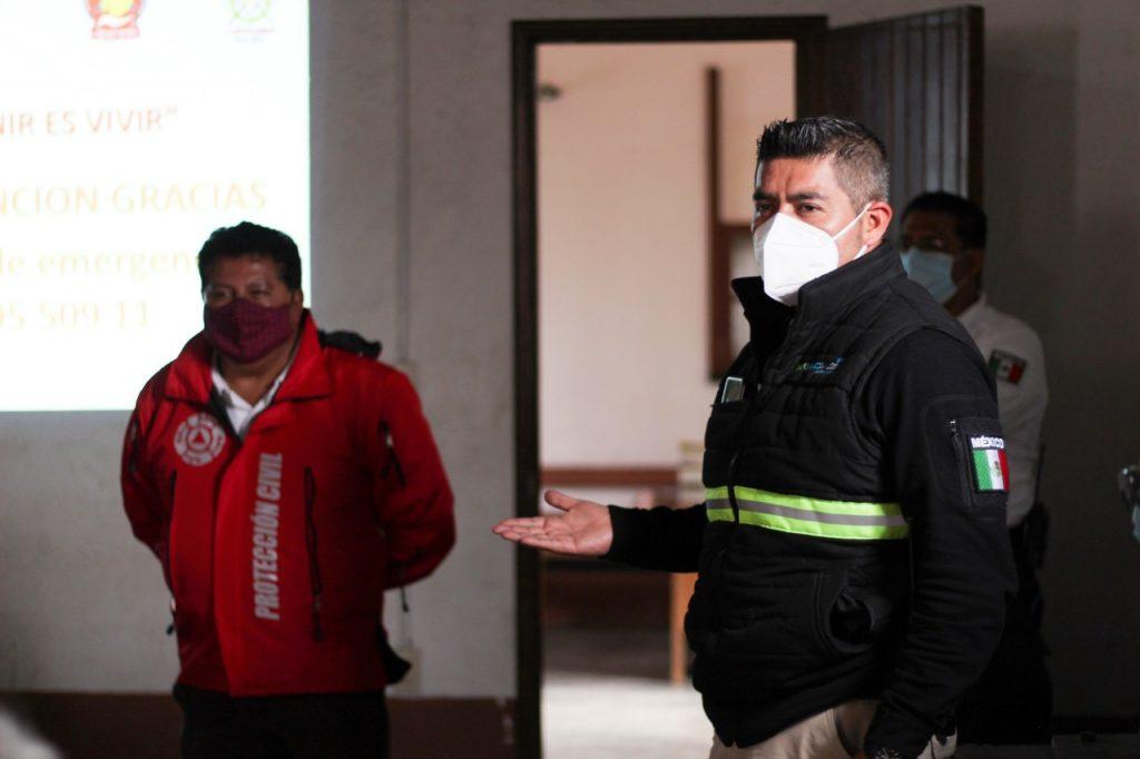 Protección civil de Texcoco llama a comerciantes a reforzar sus medidas sanitarias contra Covid-19