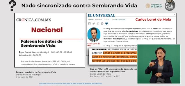 La Crónica y Loret de Mola mienten: Presidencia de la República