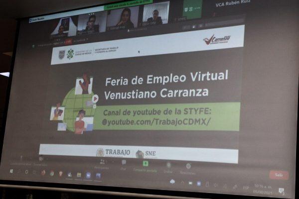 V. Carranza y STFE inauguran feria de empleo virtual, se ofrecieron más de 1,200 puestos de trabajo