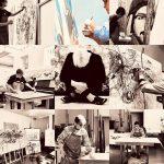 Comparten artistas plásticos su proceso de creación en el marco del día que los conmemora