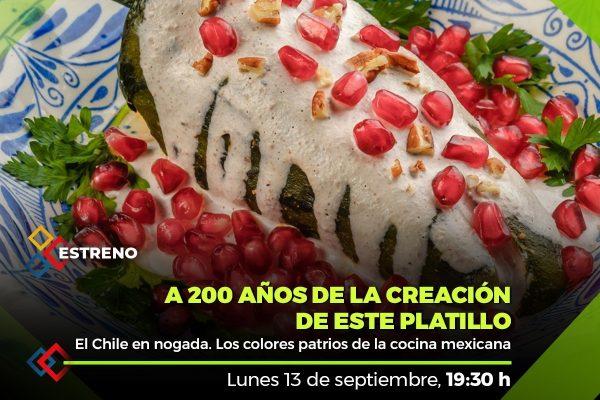 El Chile en nogada. Los colores patrios de la cocina mexicana