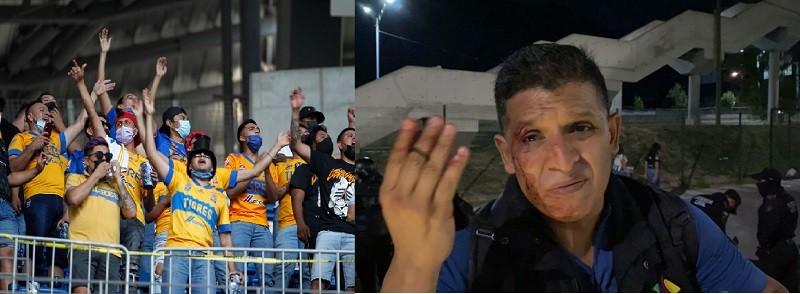 Reportero de TV Azteca denuncia agresiones y robo de aficionados de Tigres