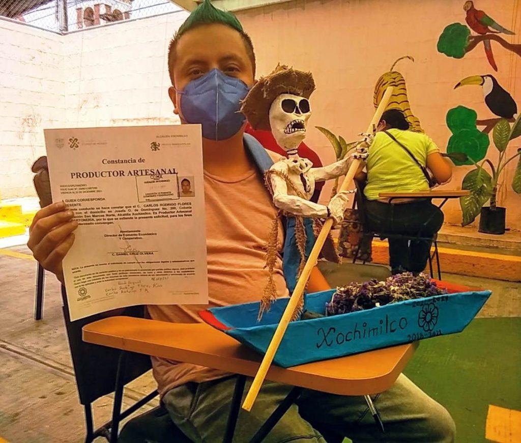 Entrega Xochimilco constancias de productor artesanal