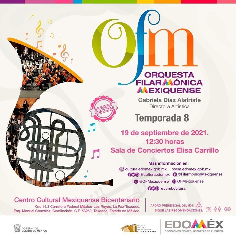 Inicia Temporada 8 de la Orquesta Filarmonica Mexiquense con gala mexicana en el Centro Cultural Mexiquense Bicentenario
