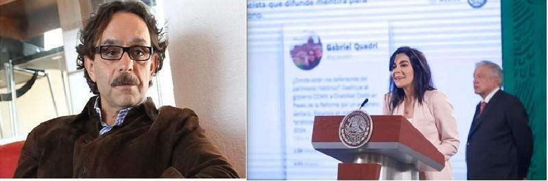 Gabriel Quadri es racista; recursos de Lotería entregados a hospitales, se replica en conferencia presidencial