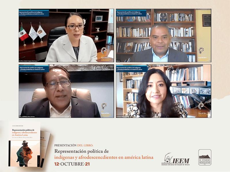 """Presenta IEEM el libro """"Representación Política de Indígenas y Afrodescendientes en América Latina"""""""