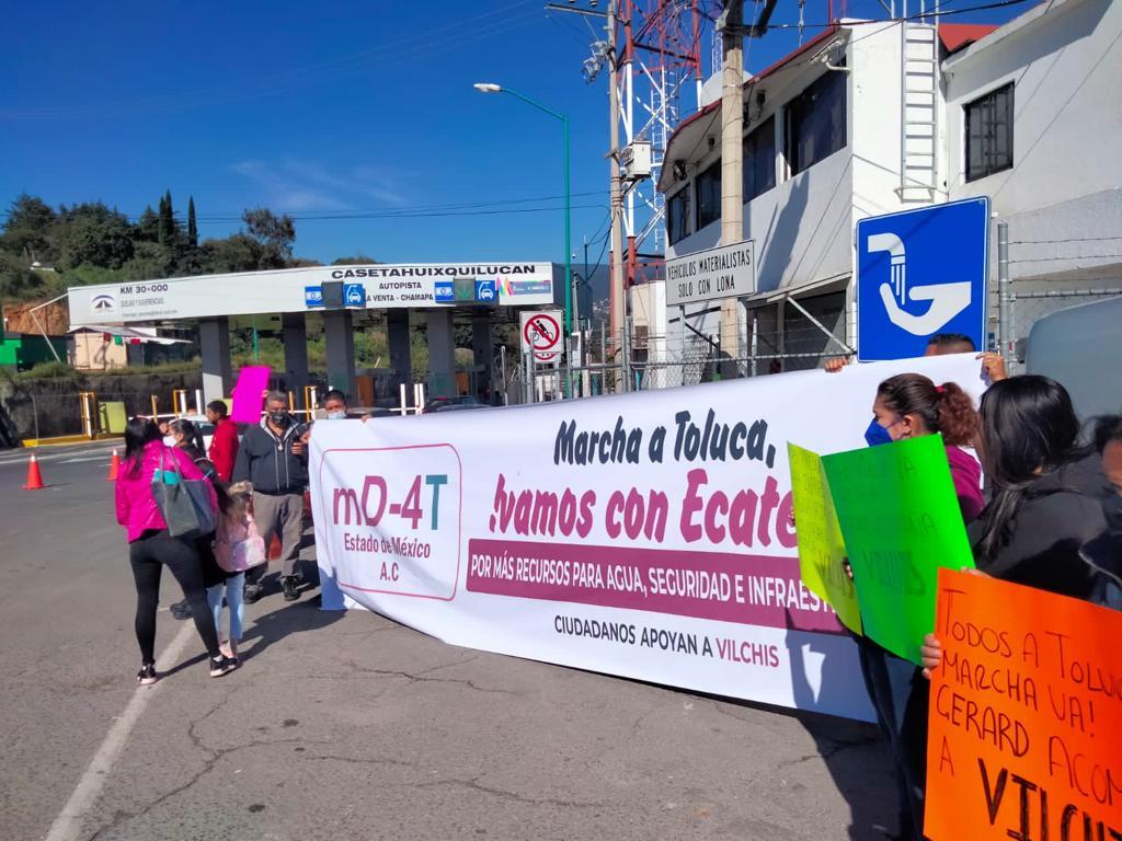Organizaciones sociales respaldan al alcalde de Ecatepec y se manifiestan en casetas de cobro para exigir más recursos