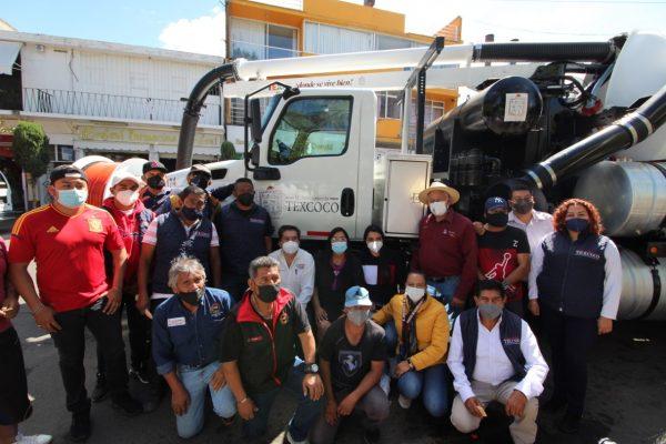 Gobierno de Texcoco invierte en en vactor, grúa y tres camionetas
